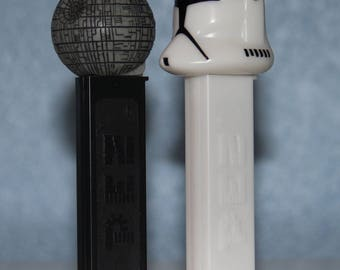 Star Wars PEZ Candy Dispensers Set of 2 - Death Star and Clone Trooer - Collectible