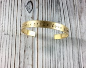 Find Your Tribe Love Them Hard Cuff Bracelet - Hand Stamped - Soul Sister Yoga Jewelry