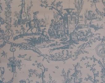 Schumacher Vintage French Toile Wallpaper  La Liberte Americane  in Blue