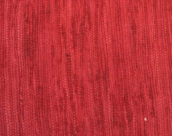 Homespun Textured Wild Silk Pillow Fabric in Maroonish Red Color