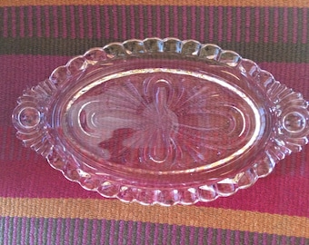 Fifties Glass Serving Tray
