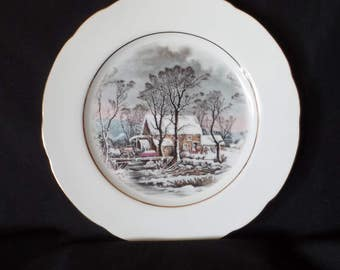 1977 Avon Representative Old Grist Mill Collector's Plate
