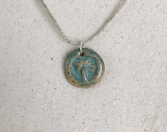 Ceramic Palm Tree Pendant