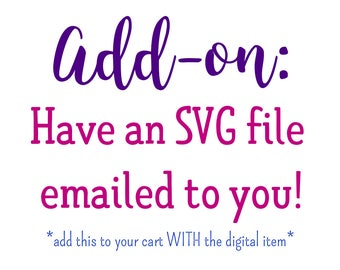 Add an SVG file to your order