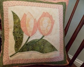 Quilted Tulip Throw Pillow Cover