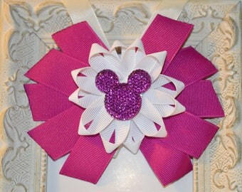 Purple Minnie Mouse Bow