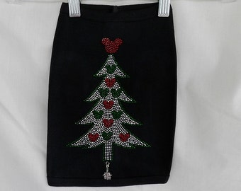 Rhinestone Doggie Mickey Christmas Tree Tank Top With A Removable Present Charm Or Choose From 6 Charms See 2nd Pic Doggie Tank Top