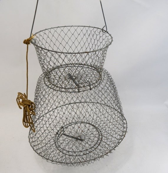 Wire baskethanging fish net for Fish wire basket
