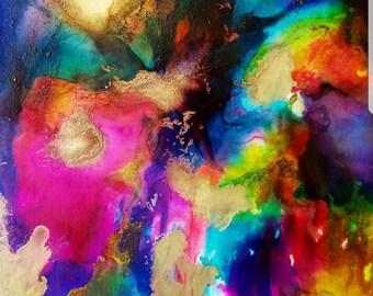 Fluid Art Painting-