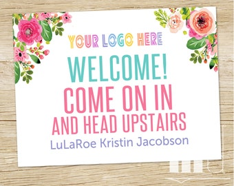 Small Business Shop Sign, Custom Door Sign 18x24, Lula Consultant 8x10 Personalized Directions Room Sign, Facebook Roe Poster, PRINTABLE