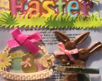 EK Success Easter Scrapbook Craft Set Easter Rabbit Chocolate Bunny and Rabbit Beads