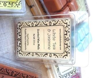 White Tea & Jasmine Wax Melts - Sweet, Fresh Floral Home Fragrance