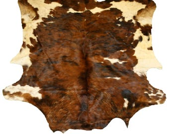 Glacier Wear Cow Hide Leather Hair-On Rug #032