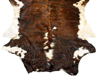 Glacier Wear Cow Hide Leather Hair-On Rug #034