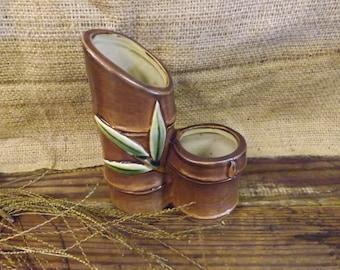 Bamboo Vase Pottery Bamboo Vase Double Vase Bamboo Pottery