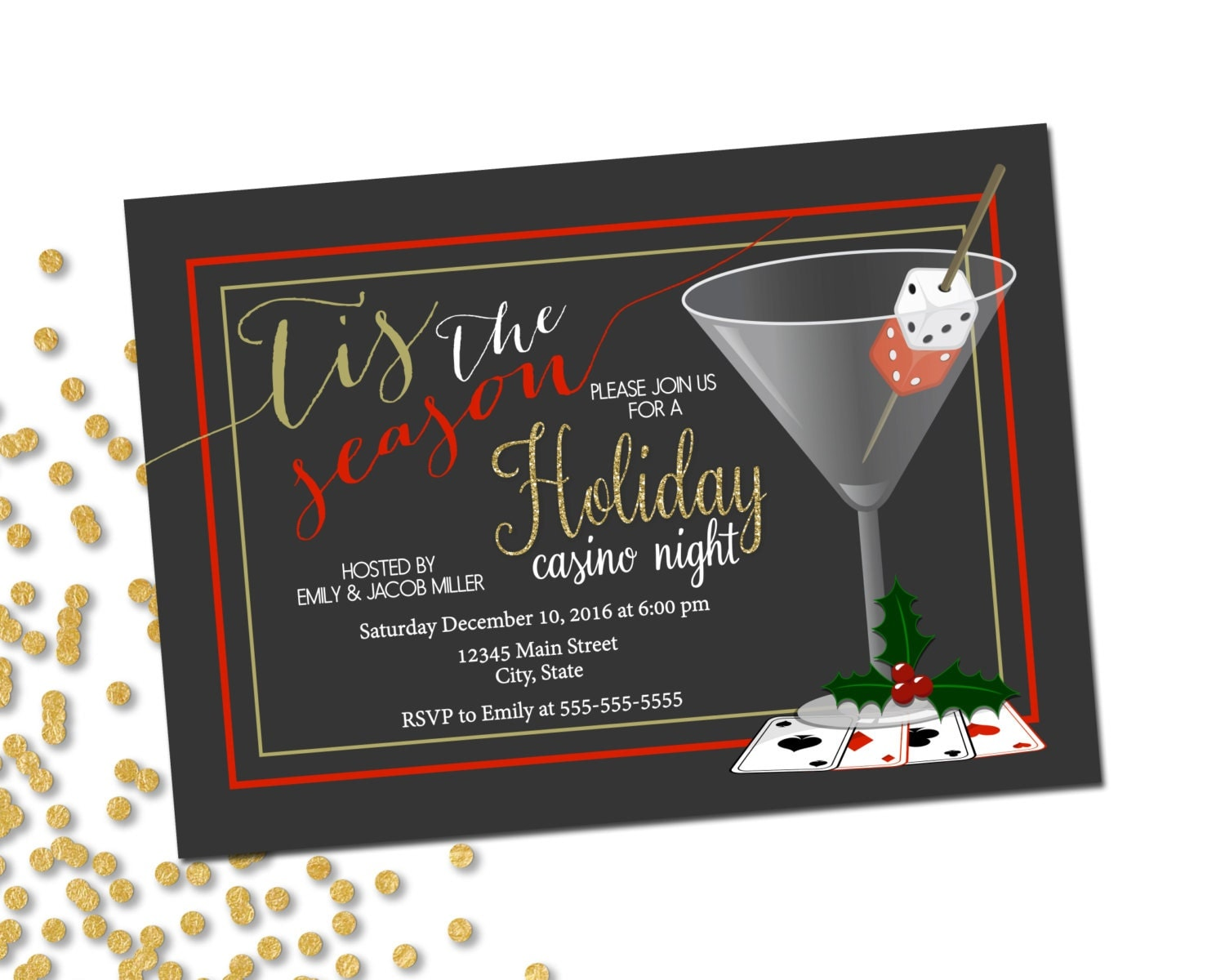 It's just a picture of Genius Free Printable Casino Party Invitations
