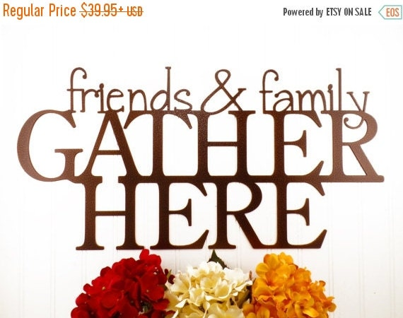 Family Friends Wall Decor : On sale friends family gather here metal by