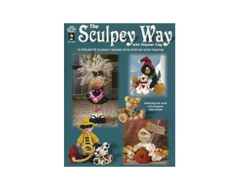 The sculpey way, is the perfect book full of tutorials to help you learn how to make cute polymer clay scupturial figures and critters.