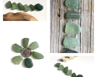 Pixie, Elven Forest, Woodland Supplies, Gemstones, Top Drilled, Sea glass Charms, Pendants, Olive Tones, Real Genuine
