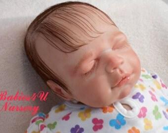 Reborn Baby Girl Sleeping Newborn with Human Hair Fake Baby Lifelike Realistic by Babies4U Nursery