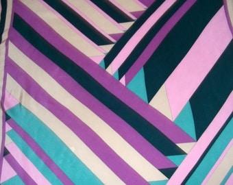 Da Maren vintage scarf, multicolored geometric print
