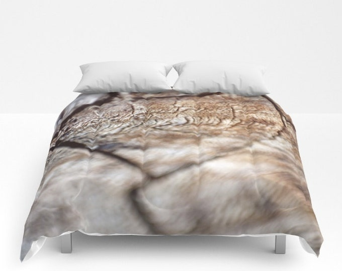 Wood Look Comforter - Bed Cover - Wood Photograph - Bedding - King - Queen - Full - Made to Order