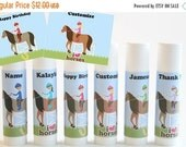 SALE Horse Party Favors - Equestrian Party Favors - Horseback Riding - Custom Lip Balm - Set of 6 - FREE Customization - Kids Party Favors