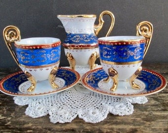 5 Pc. Teacup and Creamer Set