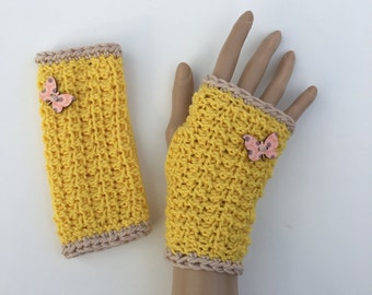 Fingerless Gloves/Wrist Warmers ~ 100%  Virgin Merino Wool ~