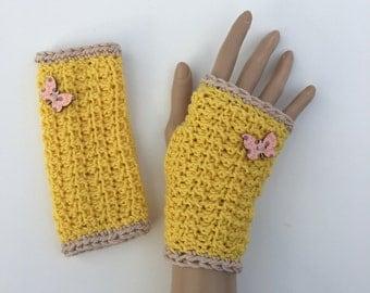 Fingerless Gloves/Wrist Warmers ~ 100%  Virgin Merino Wool ~
