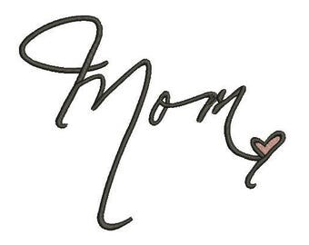 Mom embroidery design