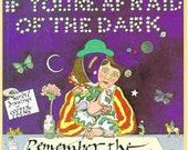CLEARANCE If You're Afraid of the Dark, Remember the Night Rainbow, Cooper Edens, Illustrated Children's Book, 1970s, Surrealism, Dreams