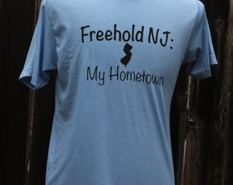 Freehold New Jersey My Hometown Screenprinted Shirt
