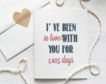 Days I've Been in Love with You Rustic Kraft Greeting Card, Valentine's Day Card, Anniversary Card, Card for Him, Romantic, Valentine, Snail