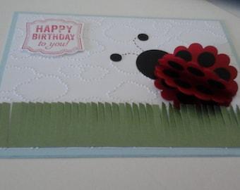 3-D Ladybug Birthday card