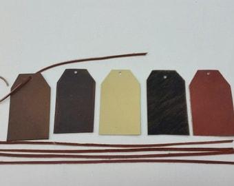 Leather Gift Tags, Leather Tags, Leather Gift Tag Set, Gift Tag Set, Wine Gift Tag, Rustic Leather Tags