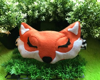 Fox Eye Mask, Fox Sleep Mask