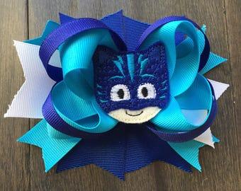 PJ Masks Catboy Cat Boy Connor Disney Jr. hair bow clip