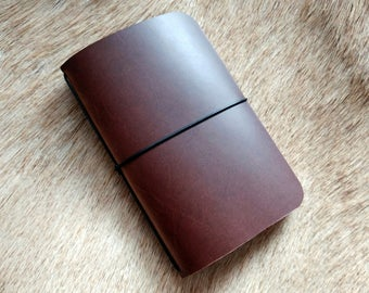 Brown Somerset Simple Leather Notebook Cover