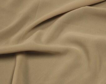 Tan 59'' Poly Hi-Twist Chiffon Fabric  by the Yard, Chiffon Fabric, Wedding Chiffon, Lightweight Chiffon Fabric - Style 687
