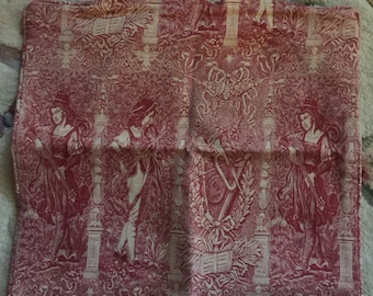French Country Renaissance Tapestry pillow cover
