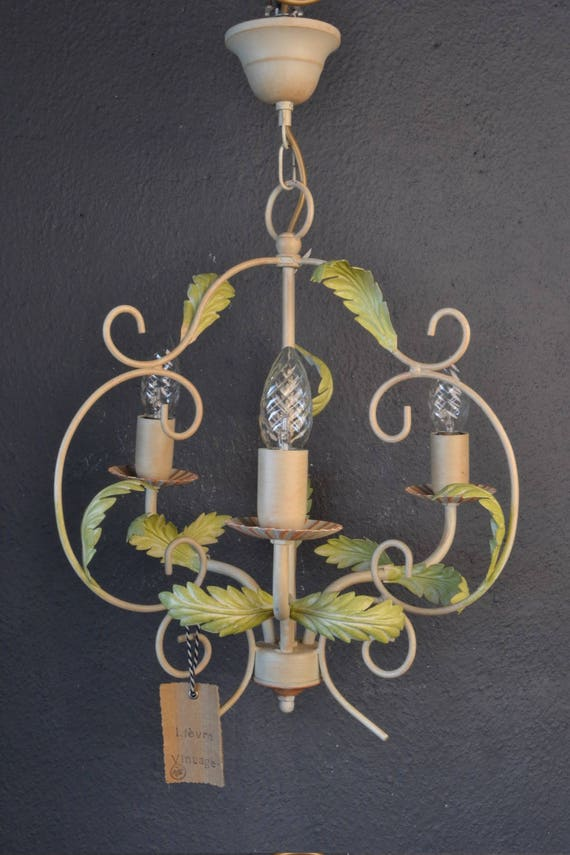 Beautiful toleware chandelier.