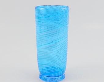 Hand Blown Glass Tumbler - Art Glass - High Ball Tumbler