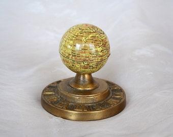 Miniature Moon Globe - Vintage Moon Decor - Moon Gift - Moon Paperweight - Vintage Globe Paperweight - Astronomy Gift - Outer Space Decor