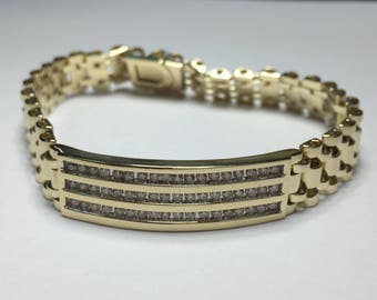 14KT Yellow Gold Vintage Mens Bracelet