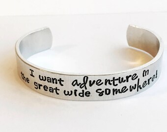 Custom quote multi font 1/2 inch personalized aluminum cuff bracelet