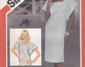 Simplicity 6324 Vintage Pattern Womens Tunic Dress and Tunic Top Size 8,10,12 UNCUT