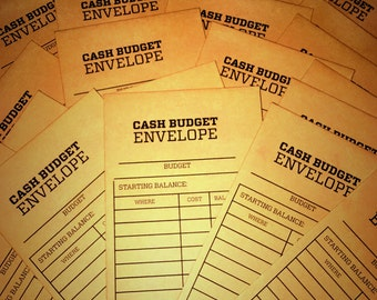Cash Budget Envelope