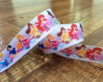 5 yards 7/8 Princess ribbon. Princess ribbon, Disney princesses, girls grosgrain ribbon, craft, crafting, sewing, scrapbook
