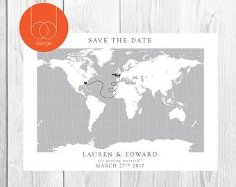 Destination Wedding | Travel Printable | Wedding Invitation | Printable Design | Travel theme wedding | DIY printable